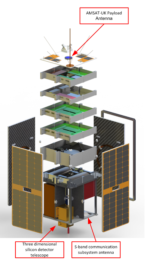 Exploded view of the ESEO satellite
