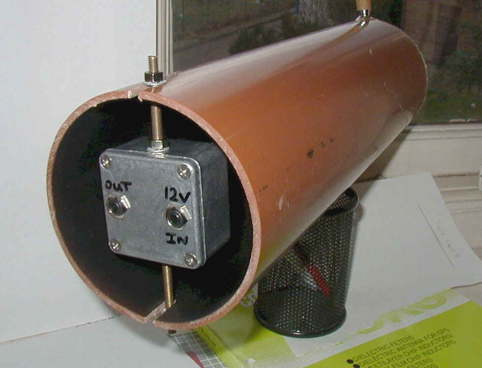 Detector mounted in tube