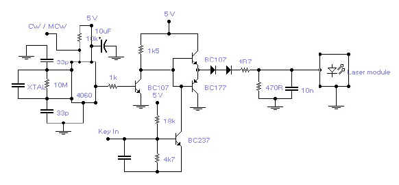 Simple Lasertransmitter circuit